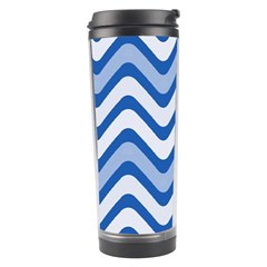 Waves Wavy Lines Pattern Design Travel Tumbler