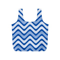 Waves Wavy Lines Pattern Design Full Print Recycle Bags (s)