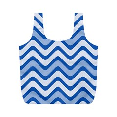 Waves Wavy Lines Pattern Design Full Print Recycle Bags (m)