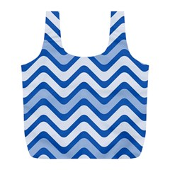 Waves Wavy Lines Pattern Design Full Print Recycle Bags (l)