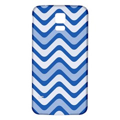 Waves Wavy Lines Pattern Design Samsung Galaxy S5 Back Case (White)