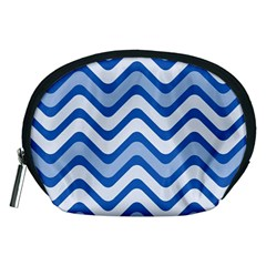 Waves Wavy Lines Pattern Design Accessory Pouches (medium)