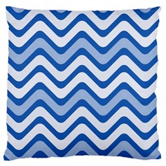 Waves Wavy Lines Pattern Design Large Flano Cushion Case (two Sides)