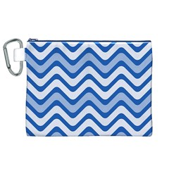 Waves Wavy Lines Pattern Design Canvas Cosmetic Bag (xl)
