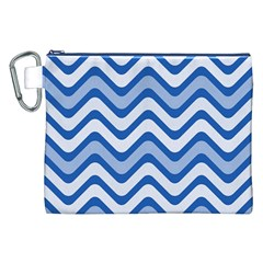 Waves Wavy Lines Pattern Design Canvas Cosmetic Bag (xxl)