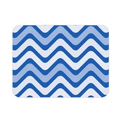 Waves Wavy Lines Pattern Design Double Sided Flano Blanket (mini)