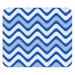 Waves Wavy Lines Pattern Design Double Sided Flano Blanket (Small)