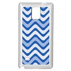 Waves Wavy Lines Pattern Design Samsung Galaxy Note 4 Case (White)