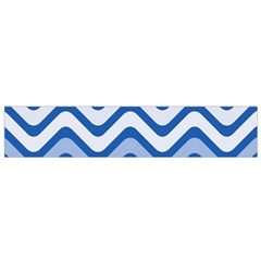 Waves Wavy Lines Pattern Design Flano Scarf (Small)