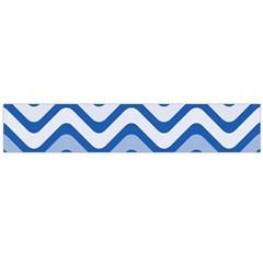 Waves Wavy Lines Pattern Design Flano Scarf (large)