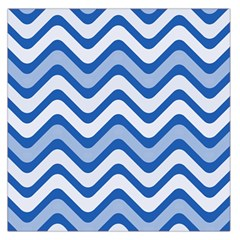 Waves Wavy Lines Pattern Design Large Satin Scarf (Square)