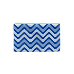 Waves Wavy Lines Pattern Design Cosmetic Bag (XS)