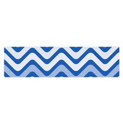 Waves Wavy Lines Pattern Design Satin Scarf (oblong)