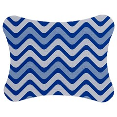 Waves Wavy Lines Pattern Design Jigsaw Puzzle Photo Stand (bow)