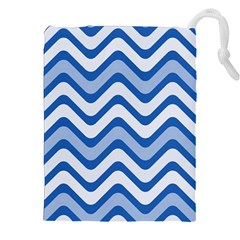 Waves Wavy Lines Pattern Design Drawstring Pouches (xxl)