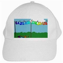 Welly Boot Rainbow Clothesline White Cap