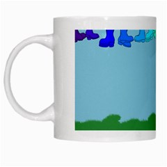 Welly Boot Rainbow Clothesline White Mugs