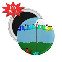 Welly Boot Rainbow Clothesline 2.25  Magnets (100 pack)