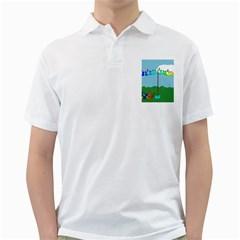 Welly Boot Rainbow Clothesline Golf Shirts