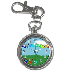 Welly Boot Rainbow Clothesline Key Chain Watches