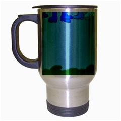 Welly Boot Rainbow Clothesline Travel Mug (silver Gray)