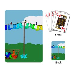 Welly Boot Rainbow Clothesline Playing Card