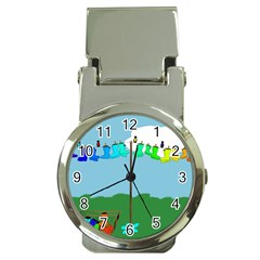 Welly Boot Rainbow Clothesline Money Clip Watches