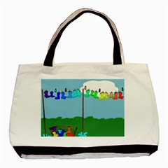Welly Boot Rainbow Clothesline Basic Tote Bag