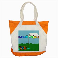 Welly Boot Rainbow Clothesline Accent Tote Bag
