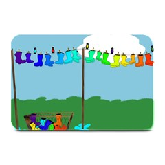 Welly Boot Rainbow Clothesline Plate Mats
