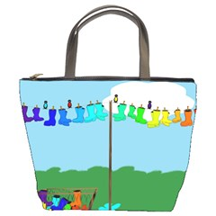 Welly Boot Rainbow Clothesline Bucket Bags