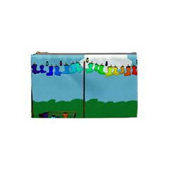 Welly Boot Rainbow Clothesline Cosmetic Bag (small)