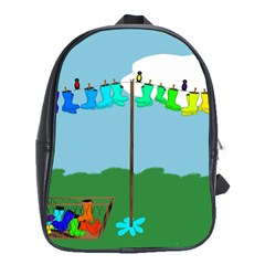 Welly Boot Rainbow Clothesline School Bags(large)
