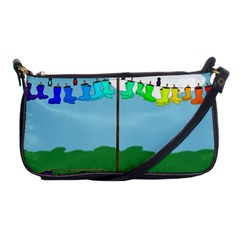 Welly Boot Rainbow Clothesline Shoulder Clutch Bags