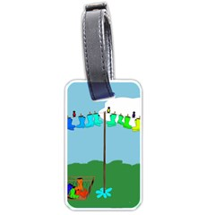 Welly Boot Rainbow Clothesline Luggage Tags (one Side)