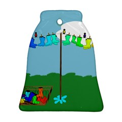 Welly Boot Rainbow Clothesline Ornament (bell)