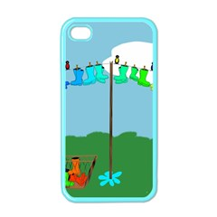 Welly Boot Rainbow Clothesline Apple Iphone 4 Case (color)