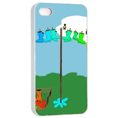 Welly Boot Rainbow Clothesline Apple Iphone 4/4s Seamless Case (white)