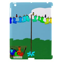 Welly Boot Rainbow Clothesline Apple Ipad 3/4 Hardshell Case (compatible With Smart Cover)