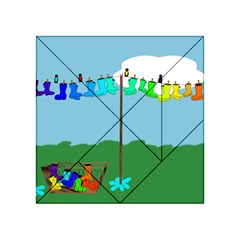 Welly Boot Rainbow Clothesline Acrylic Tangram Puzzle (4  X 4 )