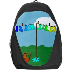 Welly Boot Rainbow Clothesline Backpack Bag
