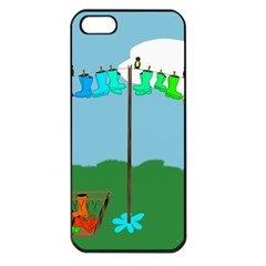 Welly Boot Rainbow Clothesline Apple Iphone 5 Seamless Case (black)