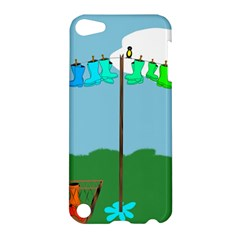 Welly Boot Rainbow Clothesline Apple Ipod Touch 5 Hardshell Case