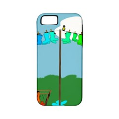 Welly Boot Rainbow Clothesline Apple Iphone 5 Classic Hardshell Case (pc+silicone)