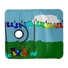Welly Boot Rainbow Clothesline Galaxy S3 (Flip/Folio)