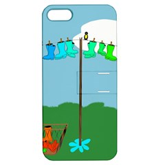 Welly Boot Rainbow Clothesline Apple Iphone 5 Hardshell Case With Stand