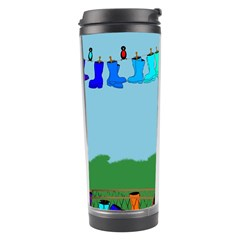 Welly Boot Rainbow Clothesline Travel Tumbler