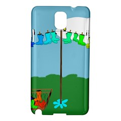 Welly Boot Rainbow Clothesline Samsung Galaxy Note 3 N9005 Hardshell Case
