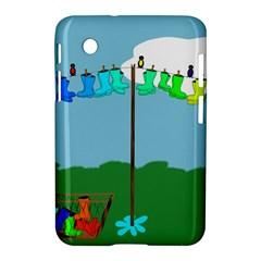 Welly Boot Rainbow Clothesline Samsung Galaxy Tab 2 (7 ) P3100 Hardshell Case