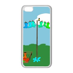 Welly Boot Rainbow Clothesline Apple iPhone 5C Seamless Case (White)
